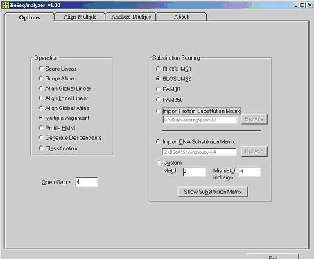 Click to view BioSeqAnalyzer 1.0 screenshot